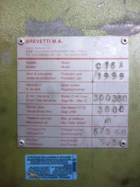 Used Brevetti C 16 A | Saws - CutOff, Miter, Radial Arm