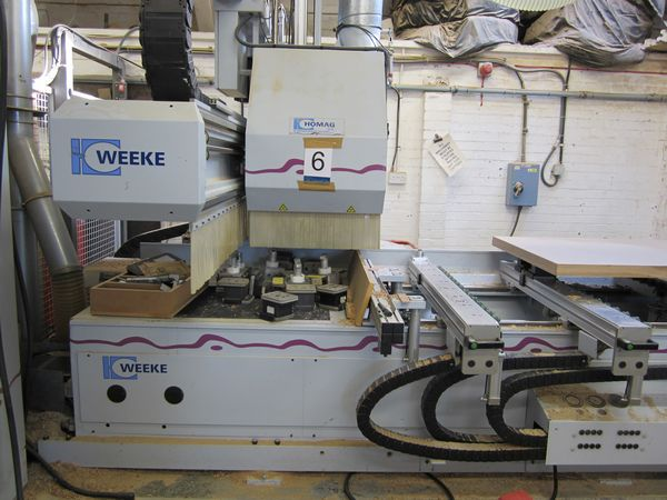 Weeke BHC 550 Machining Center with C Axis, 2002