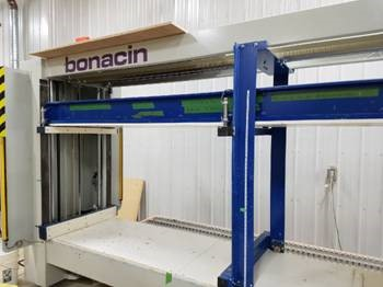Bonacin STRETTOIO NINA semi automatic case clamp with PLC , 2012