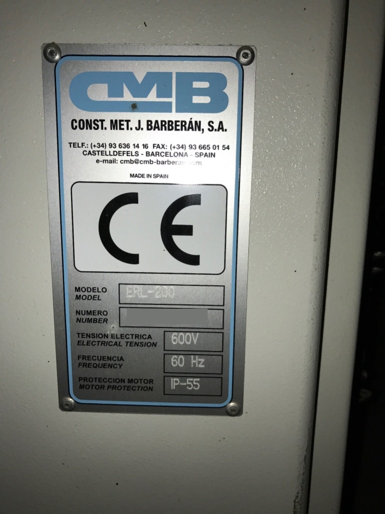 Used CMB ERL-200 | Packaging And Shrink Wrapping Equipment