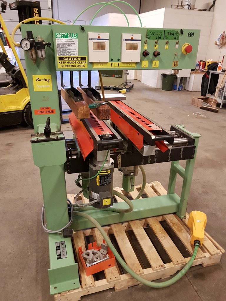 Used Conquest 2-46 Double Line borer  | Boring Machines - All 32mm and Through Feed
