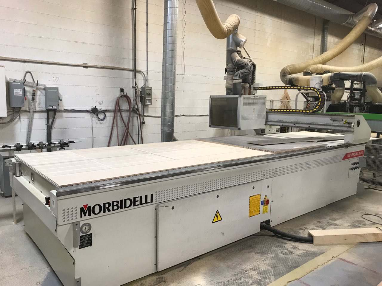 2007 Morbidelli Universal 3615 12ft X 4ft CNC flat table
