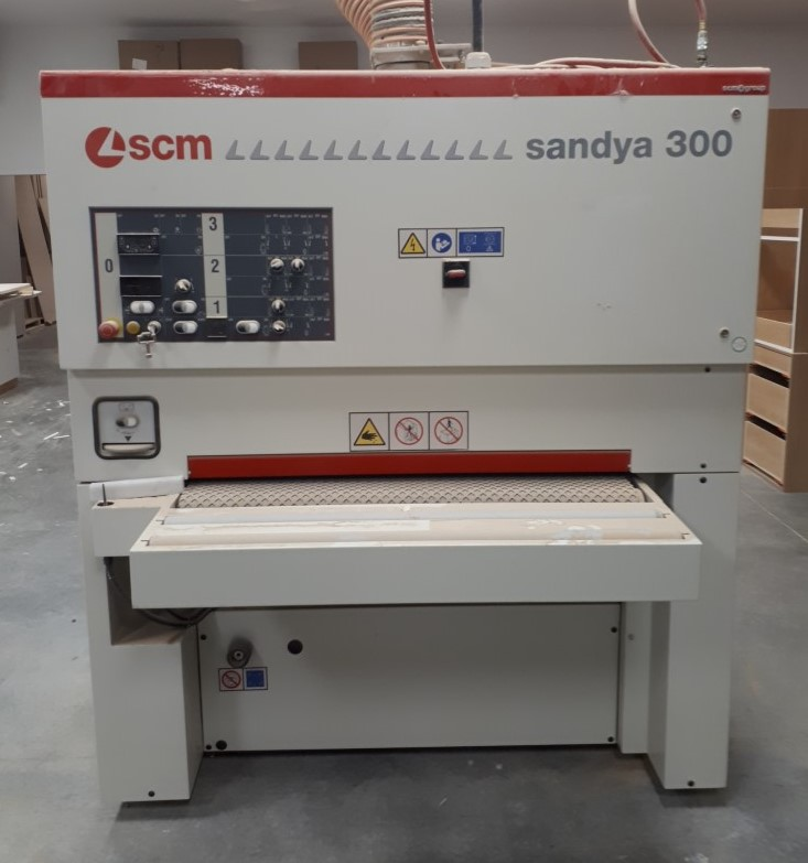 SCM Sandya 300 2 head 43in. wide belt sander, 2012