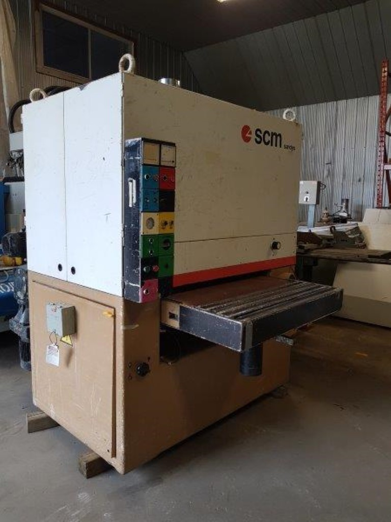 SCM CL 92 two head 36in wide belt sander,